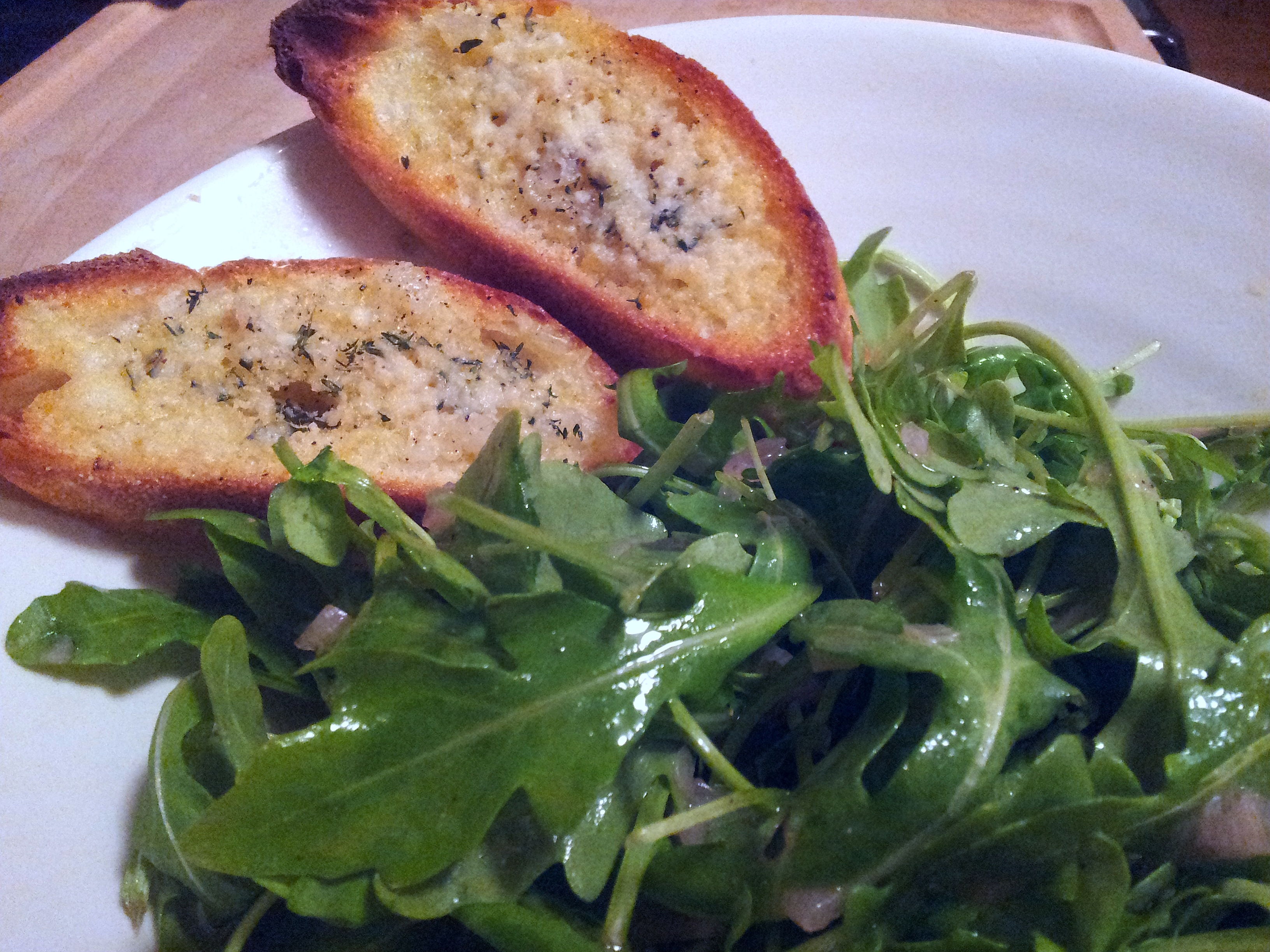 Simple Green Salad with Parmesan Crostini | Xin Mời Ăn